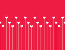Seamless love background. Beautiful Valentine's day seamless background with hearts Stock Photo