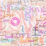Seamless love background Stock Image