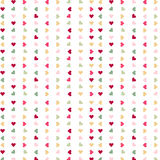 Seamless love colorful hearts on white background Stock Photos