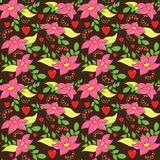 Seamless Love Flower Pattern Royalty Free Stock Photo