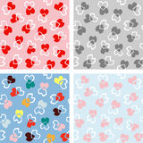 Seamless love heart background in pretty colors. Great for Valentine's Day Royalty Free Stock Image