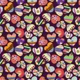 Seamless love heart pattern. Vector drawing Royalty Free Stock Photos