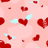 Seamless Love Heart Pattern Stock Image