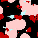 Seamless Love Heart Pattern Stock Photo