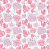 Seamless love letters. Pattern imitation handwriting, all of the words are fake, but true feelings Royalty Free Stock Photography