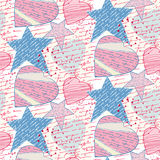 Seamless love letters. Pattern imitation handwriting, all of the words are fake, but true feelings stock illustration