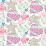 Seamless love letters. Pattern imitation handwriting, all of the words are fake, but true feelings Stock Images