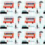 Seamless love London England Great Britain Pattern vector illust Royalty Free Stock Images
