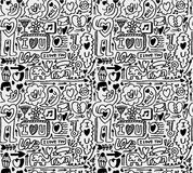 Seamless love pattern Royalty Free Stock Photo
