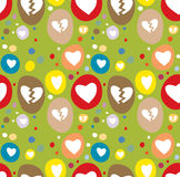 Seamless Love Pattern Stock Photography