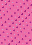 Seamless love pattern background with hearts. Vector repeating texture Stock Photos