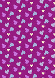 Seamless love pattern background with hearts. Vector repeating texture Stock Photo