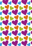 Seamless love pattern background with hearts. Vector repeating texture Royalty Free Stock Photos