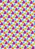 Seamless love pattern background with hearts. Vector repeating texture Stock Images