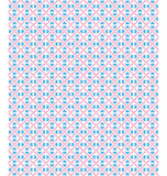 Seamless love pattern. Blue hearts and pink dots on white Royalty Free Stock Photos
