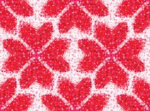 Seamless love pattern of geometric heart Royalty Free Stock Photos