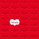 Seamless love pattern of hearts. Vector illustration. Valentine�s day concept. You can use it as a congratulatory banner, postcard or pattern Stock Image