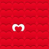 Seamless love pattern of hearts. Vector illustration. Valentine�s day concept. You can use it as a congratulatory banner, postcard or pattern Royalty Free Stock Image