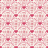 Seamless love pattern. With lettering Royalty Free Stock Photo