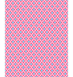 Seamless love pattern. Pink hearts and blue squares on white Stock Photos