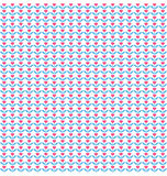 Seamless love pattern. Pink hearts like flowers on white Stock Photo