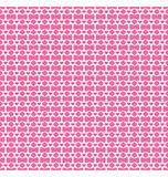Seamless love pattern. Pink hearts and white stars on pink Stock Photography