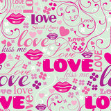 Seamless Love Pattern Royalty Free Stock Photos