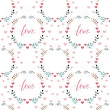Seamless love pattern Stock Images
