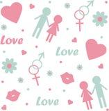 Seamless love pattern Royalty Free Stock Image