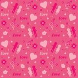 Seamless love pattern Stock Photography