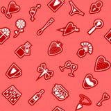 Seamless Love Pattern. Vector seamless pattern on love theme Stock Photos