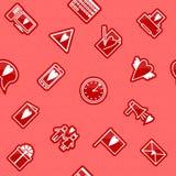 Seamless Love Pattern. Vector seamless pattern on love theme Stock Photography