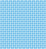 Seamless love pattern. White hearts and pink dots on blue Stock Photos