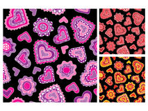 Seamless love patterns Stock Photos