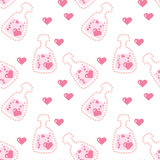 Seamless love potion texture Royalty Free Stock Image