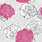 Seamless love rose  pattern Royalty Free Stock Image