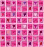 Seamless love wallpaper Stock Photos
