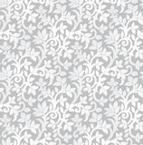 Seamless luxurious silver floral wallpaper Royalty Free Stock Images