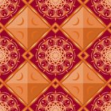 Seamless luxurious vintage patterns on dark red background Stock Image