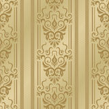 Seamless luxurious wallpaper. Seamless background with stripes for design, vector Illustration stock illustration