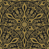 Seamless luxurious wallpaper. Damask seamless floral background pattern. Vector illustration stock illustration