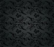 Seamless luxury charcoal round foliage wallpaper Royalty Free Stock Photos