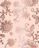 Seamless pattern with fantasy flowers. Vector abstract seamless floral pattern. Lase pattern. Template can be used for wallpaper, vector illustration
