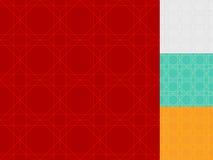 Seamless luxury patterns set, geometric backgrounds.  Royalty Free Stock Photos