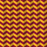 Seamless luxury vinous red and yellow chevron op art 3d illusion zigzag pattern vector Stock Photography