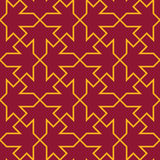 Seamless luxury vinous red and yellow islamic fashion traditional geometric ornament pattern vector Stock Images