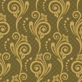 Seamless lyxig wallpaper Arkivfoton