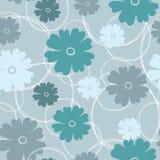 Seamless mönstra av blommabakgrund Arkivfoton
