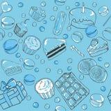 Seamless mönstra av sötsaker Royaltyfri Foto