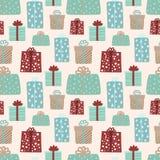 Seamless mönstra för jul och nytt år royaltyfri illustrationer